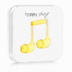 Ecouteurs avec micro et télécommande HAPPY PLUGS - jaune