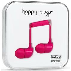 Ecouteurs avec le micro et la télécommande HAPPY PLUGS - cerise