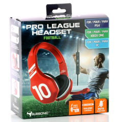 CASQUE AUDIO FILAIRE GAMING PRO LEAGUE FOOTBALL SUBSONIC ROUGE