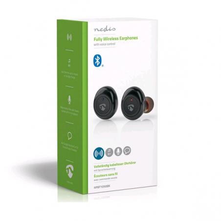 Ecouteur NEDIS Bluetooth Entièrement sans fil 4 Heures d'Autonomie
