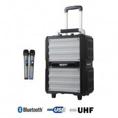 SONO PORTABLE USB+SD CARD + BLUETOOTH + 2 MICRO MAIN UHF