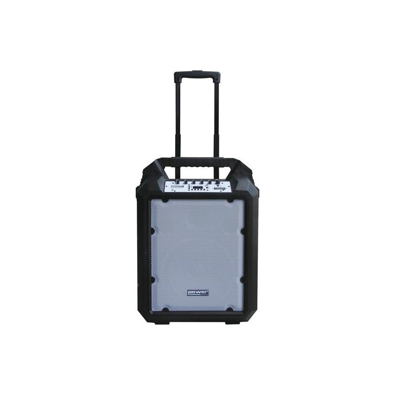 SONO PORTABLE SUR BATTERIE + TROLLEY USB/SD/BLUETOOTH 200W