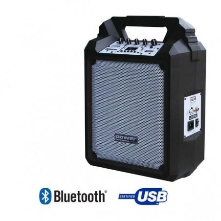 SONO PORTABLE SUR BATTERIE + TROLLEY USB/SD/BLUETOOTH 100W