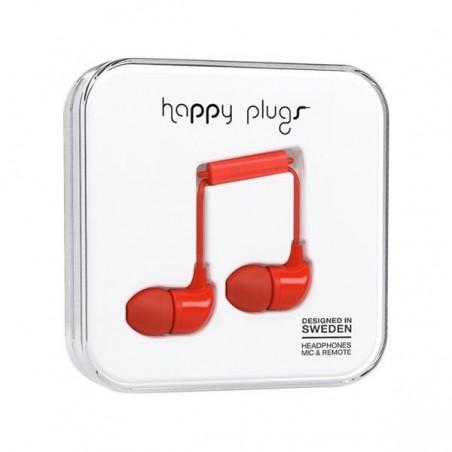 Ecouteurs avec micro et télécommande  - HAPPY PLUGS  ROUGE 030159