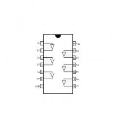 Circuit Intégré TTL 74007 Sextuple tampon à sortie collecteur ouvert