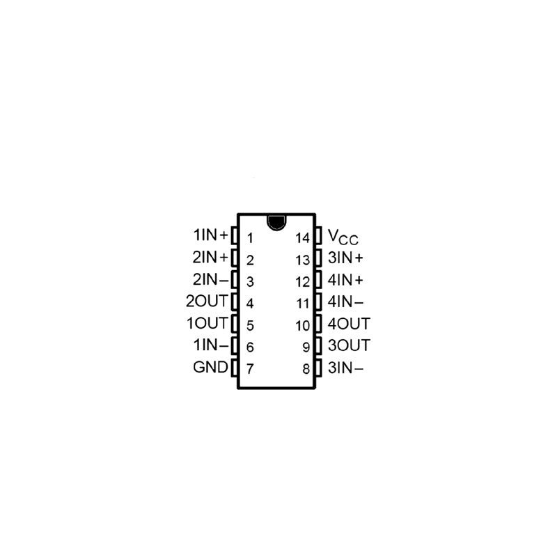 Circuit Intégré TTL 74006 Sextuple inverseur à sortie collecteur ouvert