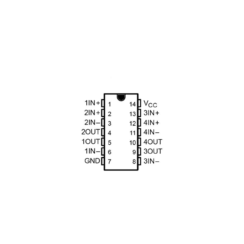 Sextuple inverseur à sortie collecteur ouvert