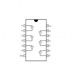 Circuit Intégré TTL 74017 Sextuple tampon de puissance