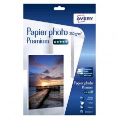 PAPIER PHOTO AVERY BRILLANT A4 250G 20 FEUILLES