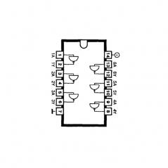 Circuit Intégré TTL 74016 Sextuple tampon inverseur