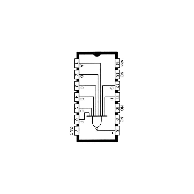 Circuit Intégré TTL 74030 Porte NAND à 8 entrées