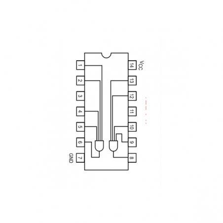 Circuit Intégré TTL 74021 Double porte AND à 4 entrées