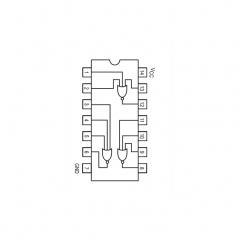 Circuit Intégré TTL 74027 Triple porte NOR à 3 entrées