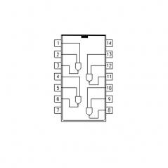 Quadruple porte NAND à 2 entrées et sorties à collecteur ouvert