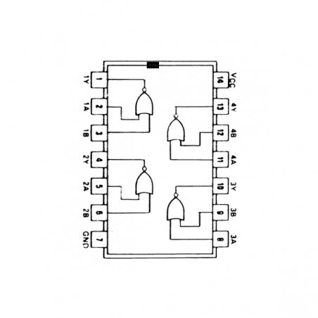 Circuit Intégré TTL 74033 Quadruple porte NOR à 2 entrées et sorties à collecteur ouvert