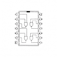 Quadruple porte NAND à 2 entrées