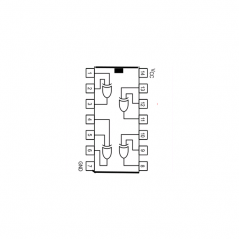 Circuit Intégré TTL 74086 Quadruple porte EXOR à 2 entrées