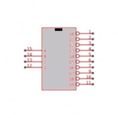 Circuit Intégré TTL 74044 Décodeur 4 entrées 10 sorties