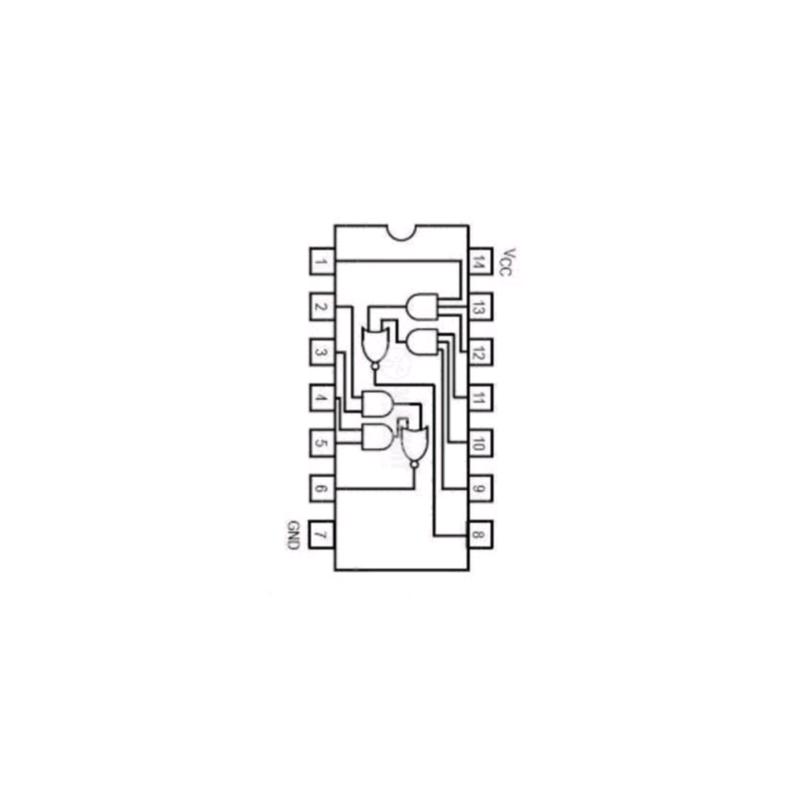 Circuit Intégré TTL 74051 Double porte à 2 entrées AND/OR avec inverseur