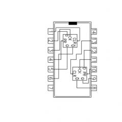 Circuit Intégré TTL 74074 Double bascule D déclanché par un flanc descendant