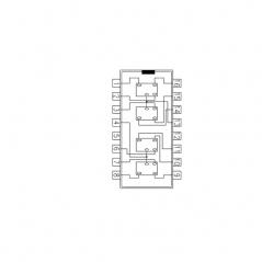 Circuit Intégré TTL 74075 Quadruple verrou bistable