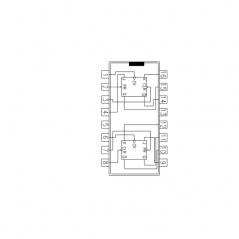 Circuit Intégré TTL 74076 Double bascule JK
