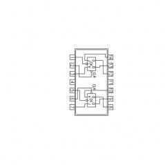 Circuit Intégré TTL 74073 Double bascule JK maitre-esclave