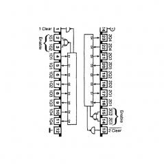 Double circuit intégré de verrouillage à 4 bits avec clair