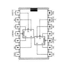 Circuit Intégré TTL 74113 Double bascule JK flip flop avec préset