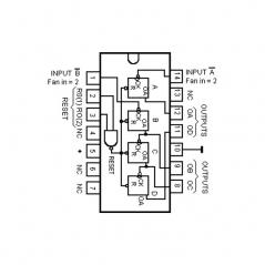 Circuit Intégré TTL 74093 Compteur binaire à 4 bits