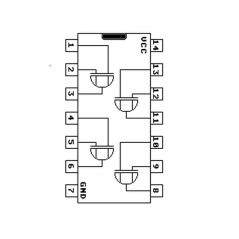 Circuit Intégré TTL 74136 Quadruple porte EXOR à 2 entrées à trigger de Schmitt