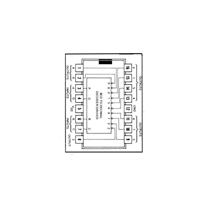 Circuit Intégré TTL 74141 Décodeur BCD/décimal de puissance