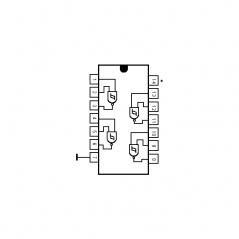 Quadruple porte NAND à 2 entréesn à trigger de Schmitt