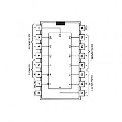 Circuit Intégré TTL 74151 Multiplexeur/ sélecteur de données 8 vers 1