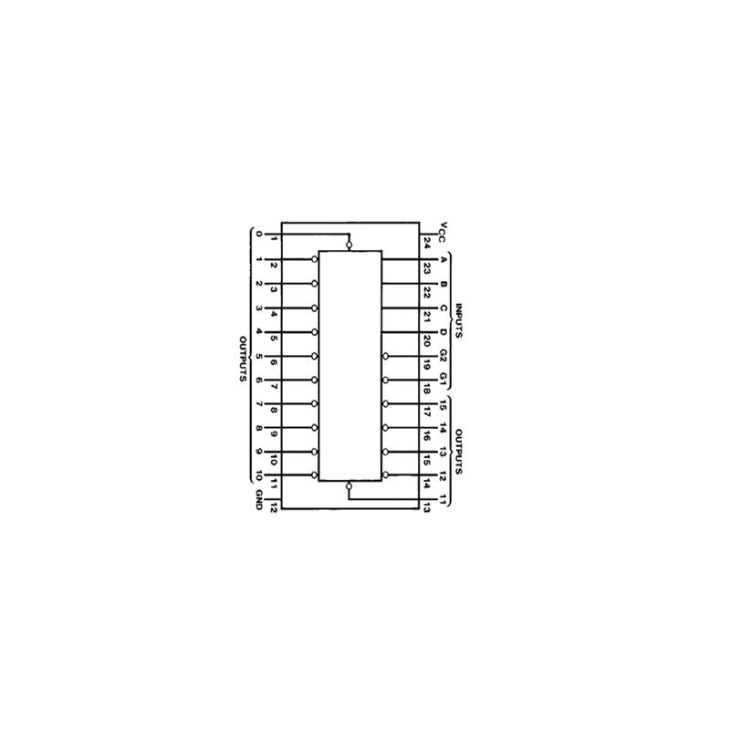 Circuit Intégré TTL 74154 Décodeur/démultiplexeur 4 vers 6