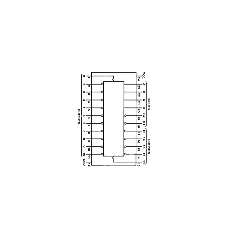 Décodeur/démultiplexeur 4 vers 6
