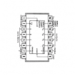 Circuit Intégré TTL 74163 Compteur binaire synchrone à 4 bits