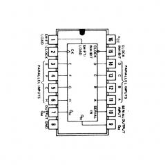 Circuit Intégré TTL 74165 Registre à décalage sériel à accès parallèle sur 8 bits
