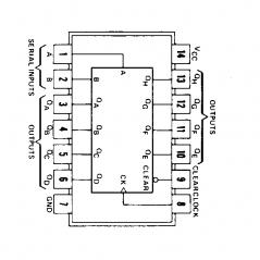 Circuit Intégré TTL 74164 Décodeur/démultiplexeur 4 vers 6