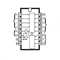 """Circuit Intégré TTL 74251 Sélecteur de données/multiplexeur à sorties """"3états"""""""