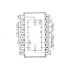 Circuit Intégré TTL 74166 Registre à décalage à 8 bits