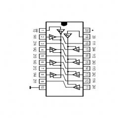 """Circuit Intégré TTL 74241 Octuple tampon de bus à sorties """"3 étatsé"""