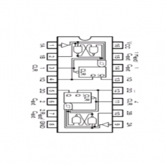 Circuit Intégré TTL 74221 Double multivibrateur monostable à entrée de trigger de Schmitt