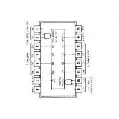 Circuit Intégré TTL 74173 Registre 4 bits type D à 3 sorties