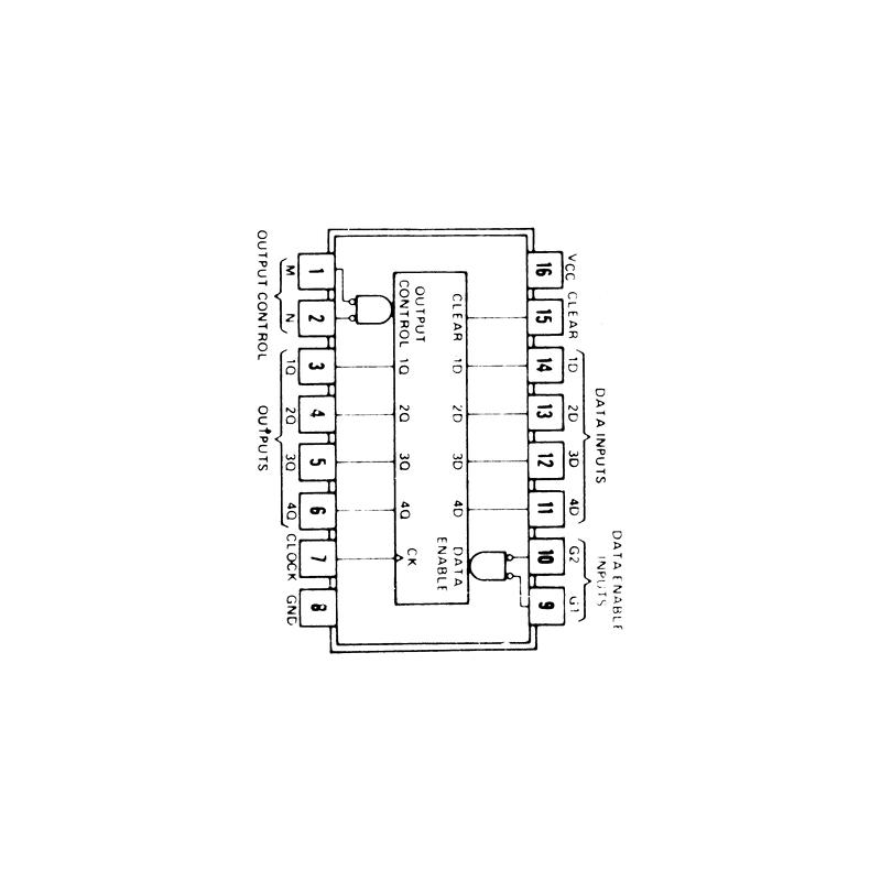 Registre 4 bits type D à 3 sorties