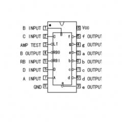 Circuit Intégré TTL 74247 Transcodeur de puissance BCD/7 segments