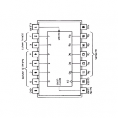 Circuit Intégré TTL 74195 Registre à décalage à accès parallèle sur 4 bits