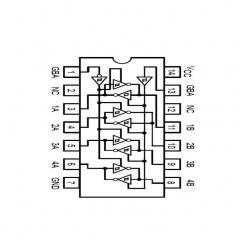 """Circuit Intégré TTL 74242 Quadruple échangeur inverseurà sorties """"3 états"""""""