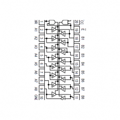 """Circuit Intégré TTL 74245 Octuple échangeur à sorties """"3états"""""""