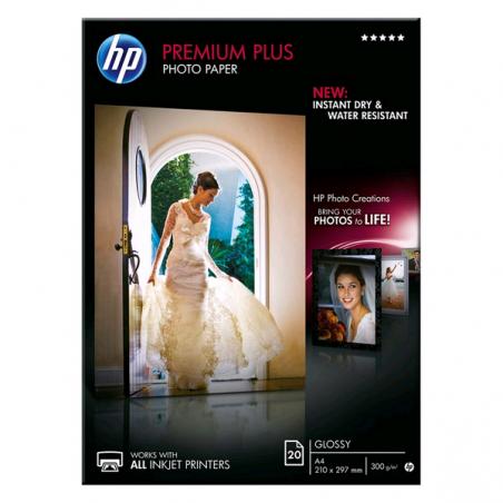 PAPIER PHOTO HP A4 PHOTO Premium Plus 300g 20 feuilles